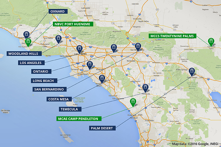 Colleges Universities In Southern California National University - Southern ca map
