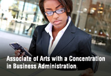 Associate of Arts with a Concentration in Business Administration